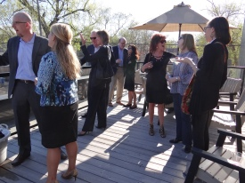 Hosts and guests enjoyed a beautiful evening on the deck.